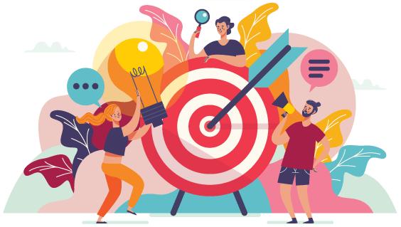 people planning goals